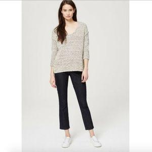 Ann Taylor Loft Modern Kick Crop Cropped Jeans